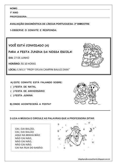 Blog da professora Edivania: AVALIAÇÃO DIAGNÓSTICA DE ...