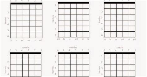 Blog de Dámaso: Hoja en blanco para acordes de guitarra