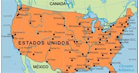 Blog de Geografia: Mapa dos Estados Unidos