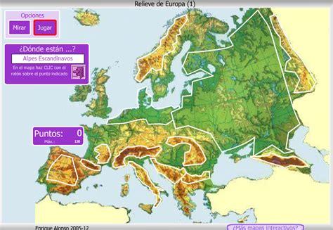 Blog de Sexto: MAPAS INTERACTIVOS RELIEVE DE EUROPA