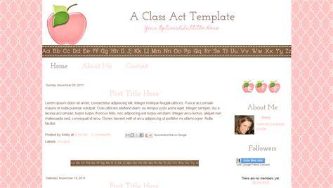 Blog Template For Teachers |Cute Modern Pink Apple|Class Act
