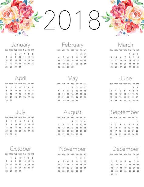 Blog Vanessa Sial : Calendários Fofos para Imprimir 2018