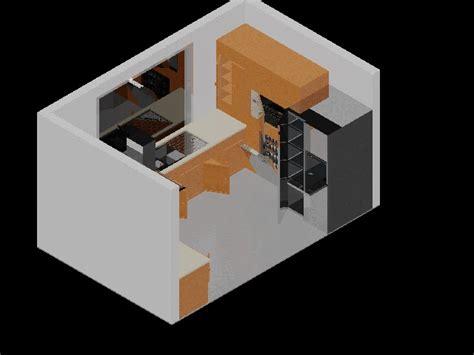 bloques autocad: COCINA COMPLETA 3D