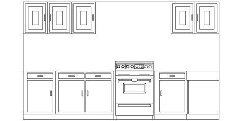 Bloques AutoCAD Gratis de amueblamiento de cocina, visto ...