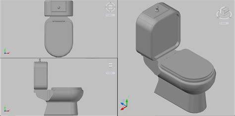 Bloques AutoCAD Gratis de inodoro en 3 dimensiones