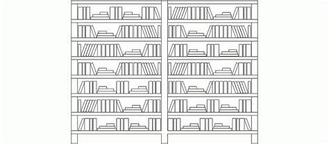 Bloques AutoCAD Gratis de Librería doble en alzado