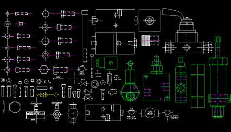 Bloques AutoCAD Gratis de tornillería y mecánica industrial