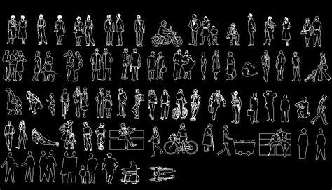 Bloques AutoCAD Gratis - Librerias de siluetas de personas