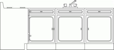 Bloques AutoCAD Gratis - Muebles de cocina