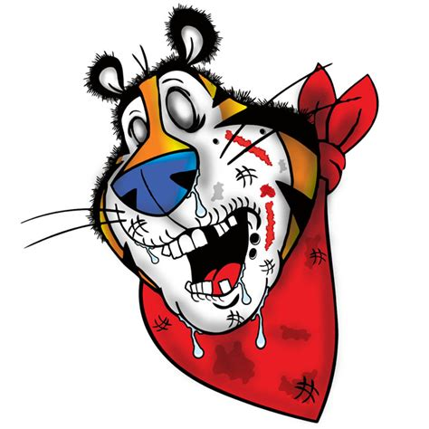 BLTees Graphic T-shirts: Tony The Tiger Zombie t-shirt