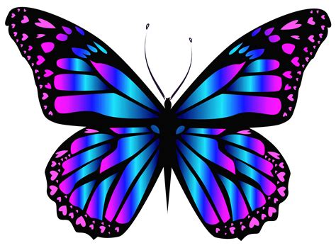 Blue and Purple Butterfly PNG Clipar Image | My favorite ...