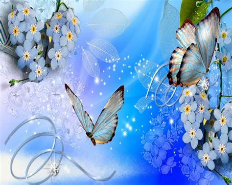 Blue Butterfly Wallpapers - Wallpaper Cave