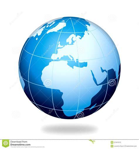 Blue Earth Europe Internet Globe Stock Illustration ...