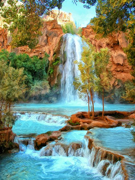 Blue Pool At Havasupai Falls Greeting Card for Sale by ...
