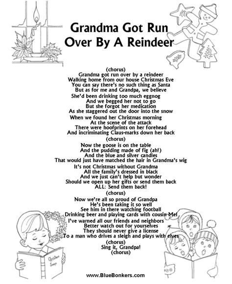 BlueBonkers: Grandma Got Run Over by a Reindeer Free ...