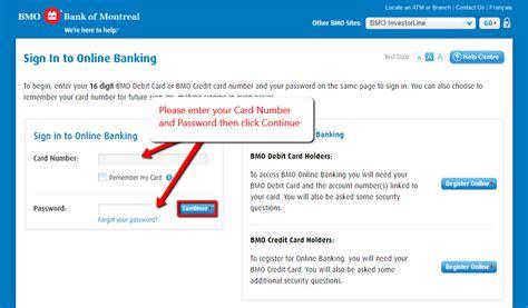 BMO Bank Online Banking Login - CC Bank
