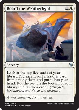 Board the Weatherlight from Dominaria Spoiler