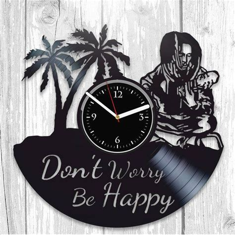 Bob Marley LP Retro Vinyl Record Wall Clock Modern Reggae ...