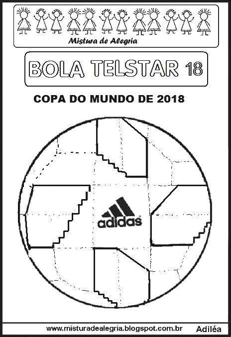 BOLA TELSTAR 18 DA COPA MUNDIAL DE 2018 PARA IMPRIMIR E ...