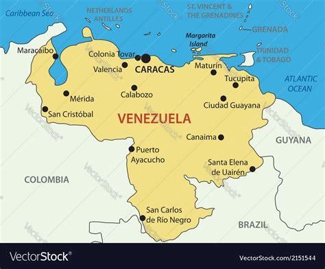 Bolivarian Republic of Venezuela   map Royalty Free Vector