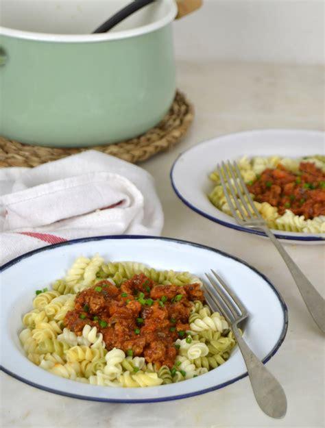 Boloñesa con soja texturizada | Cuuking! Recetas de cocina
