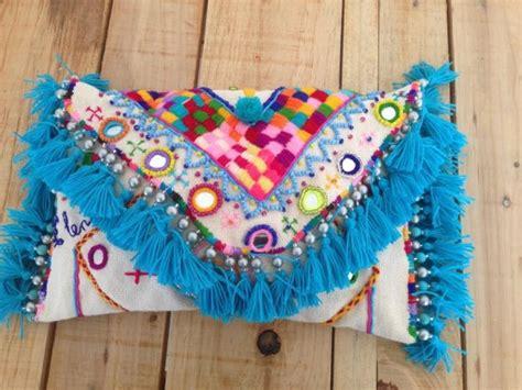 Bolso de mano mexicano / Clutch Huichol / Diseño textil Lu ...