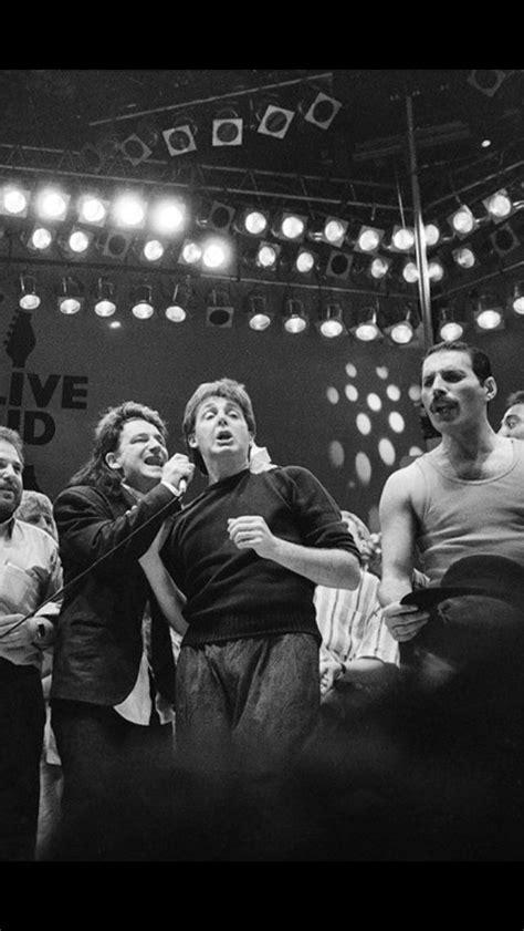 Bono, Paul McCartney & Freddie Mercury together on stage ...