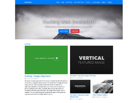 Bootredux: Theme Wordpress gratis para blogs personales ...