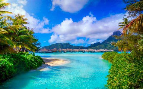 Bora Bora, French Polynesia, Nature, Landscape, Beach, Sea ...