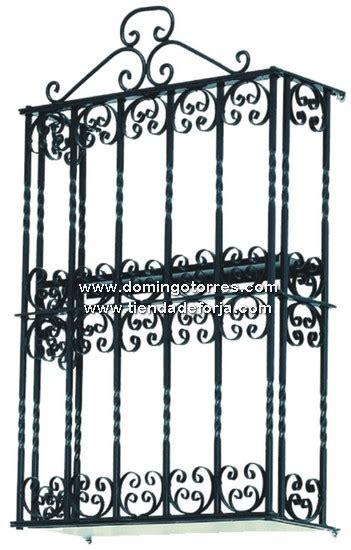 Botellero de forja artística con puertas para la pared BT ...