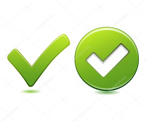 botón check verde — Archivo Imágenes Vectoriales ...