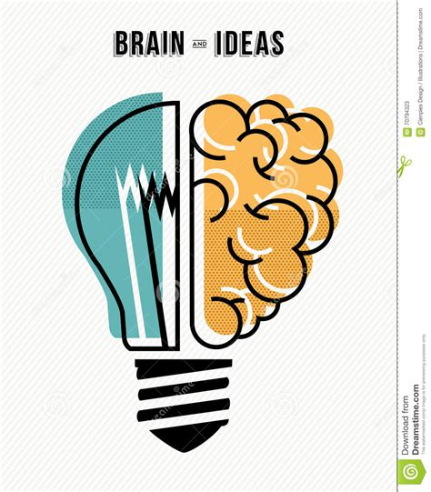Brain And Ideas Business Concept Illustration Stock Vector ...