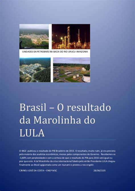 Brasil – o resultado da marolinha do lula