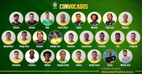 Brasil: Selección  Verdeamarela  presentó a sus convocados ...