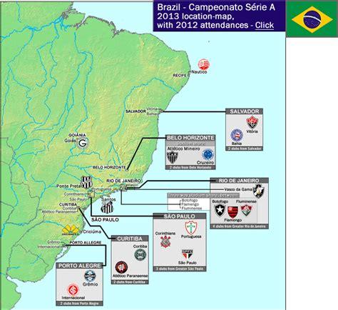 Brazil: 2013 Campeonato Brasileiro Série A location map ...