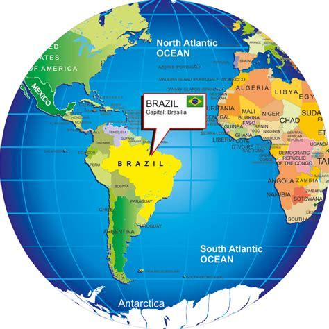 Brazil Map Globe