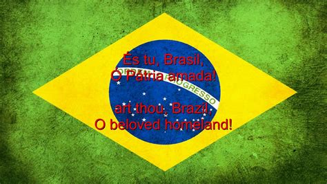 Brazil National Anthem English lyrics - YouTube