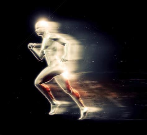 Brillante figura humana 3d corriendo | Descargar Fotos gratis