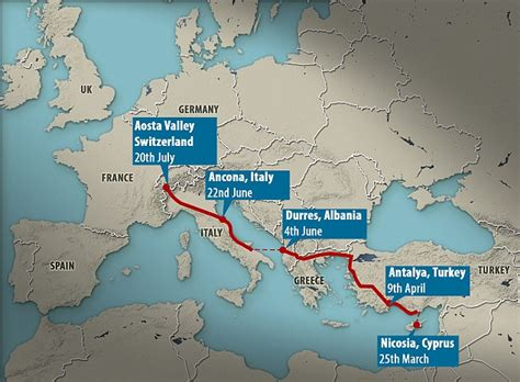 British soldier makes 2.8k mile journey home from Cyprus ...