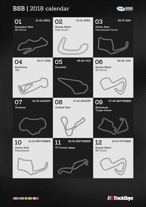 British Superbike Championship 2018 Calendar | Infographic ...
