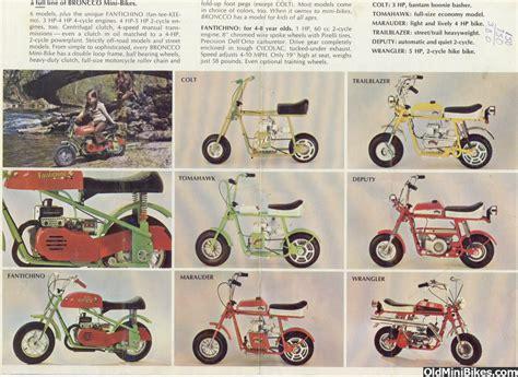 Broncco Mini bikes advertisement | Vintage Mini Bikes ...