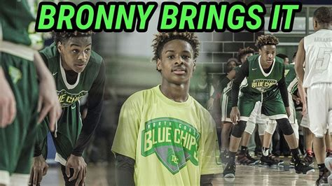Bronny James JR Shows Off HANDLES And RANGE In Tough Loss ...