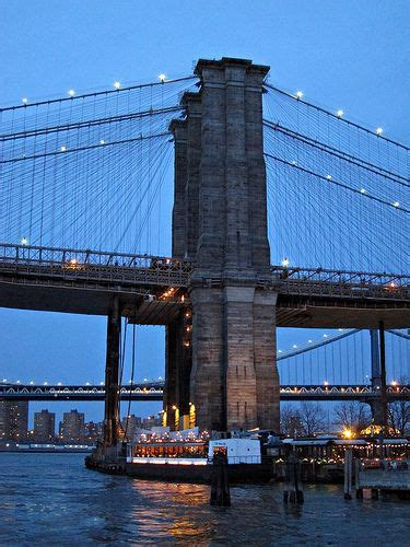 Brooklyn Bridge support tower and River Cafe | Home Sweet ...