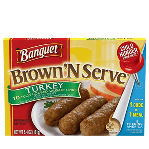Brown 'N Serve Turkey Sausage Links | Banquet