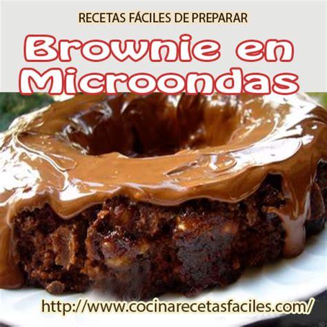 Brownie en microondas   Cocina Recetas Fáciles