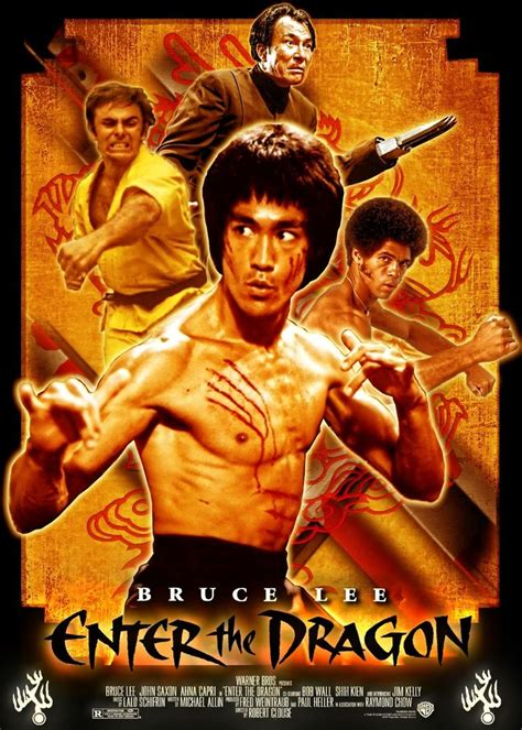Bruce Lee Enter The Dragon Movie Poster | Dragon movies ...