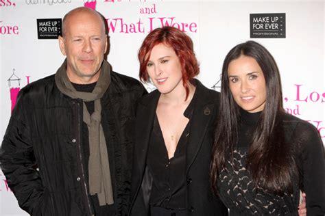 Bruce Willis y Demi Moore, el mejor apoyo de su hija Rumer ...