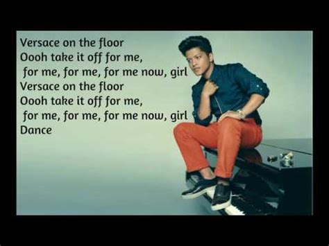 Bruno Mars   Versace On The Floor  Lyrics     Official ...
