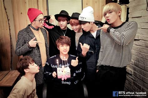 BTS and fans celebrate oldest member Jin's 23rd birthday ...