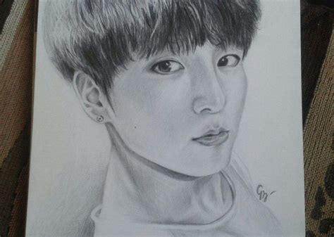 BTS' JungKook fanart drawn by me ^~^ | K-Pop Amino